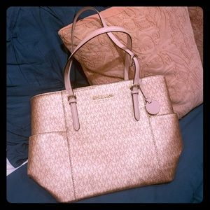 Authentic 💎 Michael Kors Rose Gold Tote